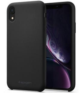 "Juodas silikoninis dėklas Apple iPhone XR telefonui ""Spigen Silicone Fit"""