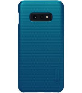 """Mėlynas dėklas Samsung Galaxy S10E telefonui """"Nillkin Frosted Shield"""" Priedaimobiliems.lt"""