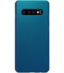 "Mėlynas dėklas Samsung Galaxy S10 Plus telefonui ""Nillkin Frosted Shield"" Priedaimobiliems.lt"