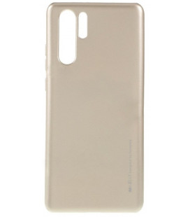 """Auksinės spalvos silikoninis dėklas Huawei P30 Pro telefonui """"Mercury iJelly Case Metal"""""""