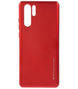 """Raudonas silikoninis dėklas Huawei P30 Pro telefonui """"Mercury iJelly Case Metal"""""""