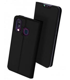 """Juodas atverčiamas dėklas Samsung Galaxy A40 telefonui """"Dux Ducis Skin"""""""
