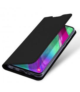 """Auksinės spalvos atverčiamas dėklas Xiaomi Mi 8 Lite telefonui """"Smart Book Magnet"""""""