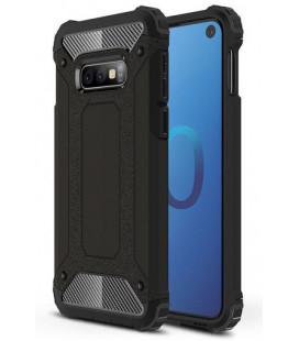 """Juodas dėklas Samsung Galaxy S10E telefonui """"Hybrid Armor Case"""""""
