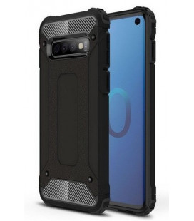 """Juodas dėklas Samsung Galaxy S10 telefonui """"Hybrid Armor Case"""""""