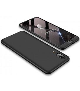 """Rausvai auksinės spalvos atverčiamas dėklas Huawei P Smart 2019 telefonui """"Dux Ducis Skin"""""""