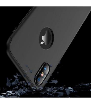 """Juodas dėklas Apple iPhone XS Max telefonui """"iPaky Carbon Fiber"""""""