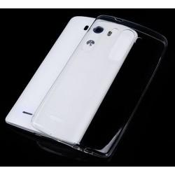 Skaidrus plonas 0,3mm silikoninis dėklas LG G2 telefonui + Apsauginė ekrano plėvelė