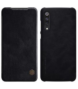 """Odinis juodas atverčiamas dėklas Xiaomi Mi9 telefonui """"Nillkin Qin"""""""