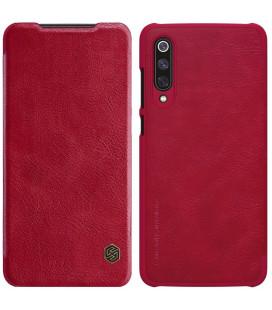 """Odinis raudonas atverčiamas dėklas Xiaomi Mi9 telefonui """"Nillkin Qin"""""""