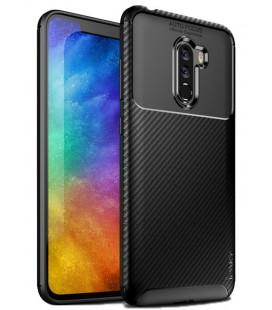 """Juodas dėklas Xiaomi Pocophone F1 telefonui """"iPaky Carbon Fiber"""""""
