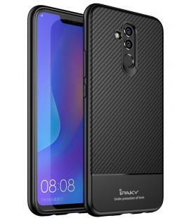 """Juodas dėklas Huawei Mate 20 Lite telefonui """"iPaky Carbon Fiber"""""""