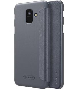 """Atverčiamas pilkas dėklas Samsung Galaxy A6 2018 telefonui """"Nillkin Sparkle"""""""