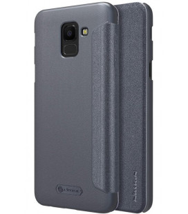"""Atverčiamas pilkas dėklas Samsung Galaxy J6 2018 telefonui """"Nillkin Sparkle"""""""