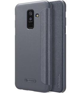 """Atverčiamas pilkas dėklas Samsung Galaxy A6 Plus 2018 telefonui """"Nillkin Sparkle"""""""