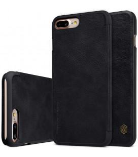 """Odinis juodas atverčiamas dėklas Apple iPhone 7 Plus / 8 Plus telefonui """"Nillkin Qin"""""""