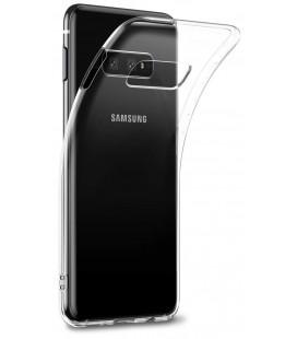 Skaidrus plonas 0,3mm silikoninis dėklas Samsung Galaxy S10E telefonui