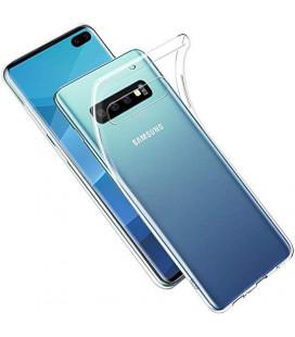 Skaidrus plonas 0,3mm silikoninis dėklas Samsung Galaxy S10 Plus telefonui