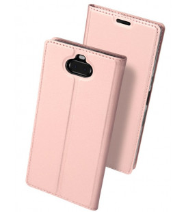 """Rausvai auksinės spalvos atverčiamas dėklas Sony Xperia 10 Plus telefonui """"Dux Ducis Skin"""""""