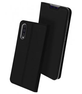 """Juodas atverčiamas dėklas Samsung Galaxy A70 telefonui """"Dux Ducis Skin"""""""