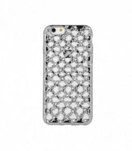 """Dėklas TPU """"Flower Diamond"""" iPhone 5/5S/SE sidabrinis"""