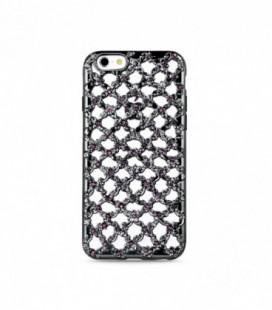 """Dėklas TPU """"Flower Diamond"""" iPhone 5/5S/SE juodas"""