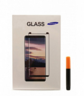 """LCD apsauginis stikliukas M1 """"5D UV Glue"""" Samsung G960 S9 lenktas skaidrus"""