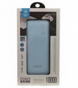 Išorinė baterija POWER BANK Leslie LP005 10000mAh žydra
