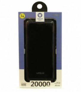 Išorinė baterija POWER BANK Leslie LP015 20000mAh juoda