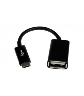 """Adapteris iš """"microUSB"""" į USB (OTG) juodas"""