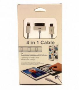"USB įkrovimo adapteris 4in1 (""microUSB""-TAB-5G)"