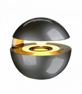 """Bluetooth nešiojamas garsiakalbis """"Mini Speaker"""" (MicroSD, AUX, HF, LED apšvietimas) pilkas"""