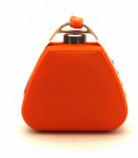 Bluetooth nešiojamas garsiakalbis PTH-17 su pakabinimu (MicroSD, laisvų rankų įranga, AUX) oranžinis