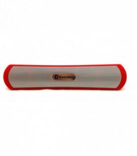 Bluetooth nešiojamas garsiakalbis BE13 (USB, MicroSD, AUX) raudonas