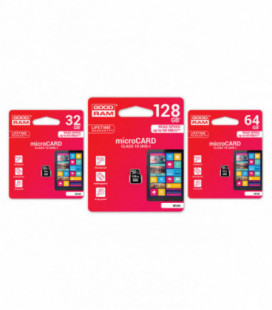 Atminties korta GOODRAM MicroSD 16Gb (class 10) be adapterio