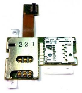 Lanksčioji jungtis Nokia E51 SIM ir atminties kortelės