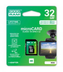 Atminties korta GOODRAM MicroSD 32Gb (UHS-I) palaiko 4K vaizdo įrašymą + SD adapter