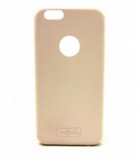 "Dėklas Tellos ""Leather case"" Apple iPhone 6/6S baltas"