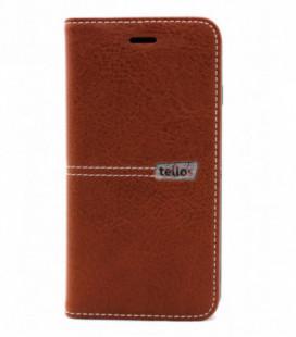 """Dėklas Tellos """"Leather flip"""" Apple iPhone 6/6S rudas"""