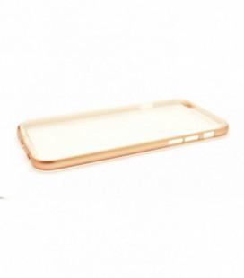 """Dėklas """"Select Metal Bumper"""" + TPU Apple iPhone 6/6S rožinis-auksinis"""