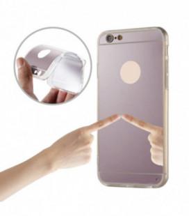"""Dėklas TPU+PC """"Mirror Case"""" iPhone 6/6S rožinis-auksinis"""