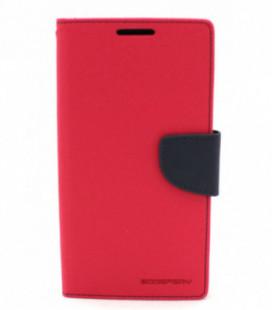"""Dėklas Mercury Goospery """"Fancy Diary"""" Apple iPhone 6/6S koralo spalvos/tamsiai mėlynas"""