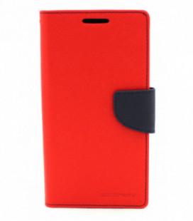 """Dėklas Mercury Goospery """"Fancy Diary"""" Apple iPhone 6/6S raudonas/tamsiai mėlynas"""