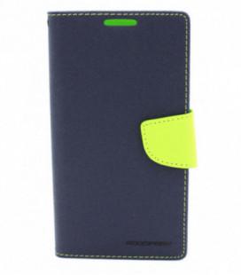 """Dėklas Mercury Goospery """"Fancy Diary"""" Apple iPhone 6/6S tamsiai mėlynas/salotinis"""