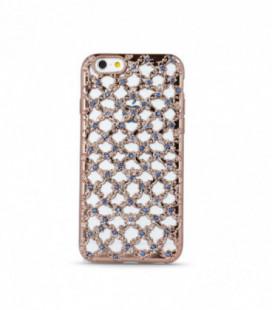 """Dėklas TPU """"Flower Diamond"""" iPhone 7/8 rožinis-auksinis"""