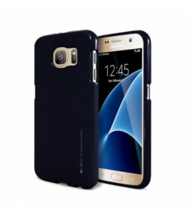 """Dėklas Mercury Goospery """"iJelly Metal Hole"""" Apple iPhone 7/8 tamsiai mėlynas"""