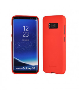 "Dėklas Mercury Goospery ""Soft Jelly Case (Hole)"" Apple iPhone 7/8 raudonas"