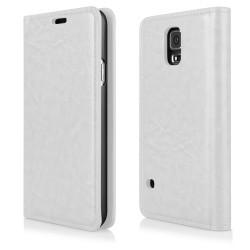 """Baltas atverčiamas dėklas Samsung Galaxy S5 telefonui """"Proskin"""""""