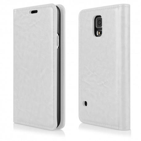 """Baltas atverčiamas dėklas Samsung Galaxy S5 G900 telefonui """"Proskin"""""""