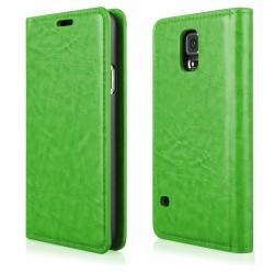 """Žalias atverčiamas dėklas Samsung Galaxy S5 G900 telefonui """"Proskin"""""""
